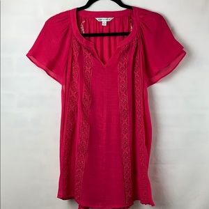 Counterparts Blouse with flutter sleeves. NWT